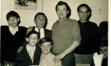 Florindo Lenzarini with his son Danny (front). To his right is his brother Narciso, and Narciso's sons Carlo and Marco (left).